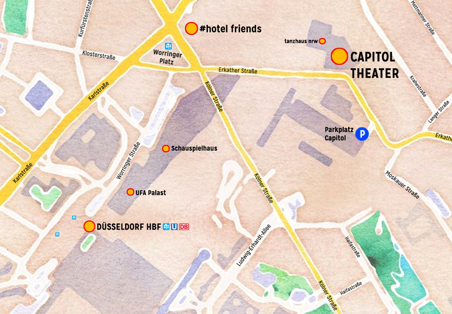 Landkarte HBF CAPITOL Ausschnitt